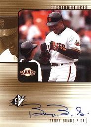 2000 SPx Signatures Barry Bonds