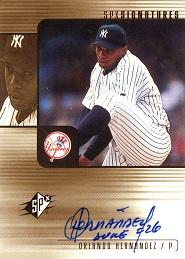 2000 SPx Signatures Orlando Hernandez