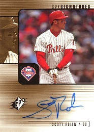 2000 SPx Signatures Scott Rolen