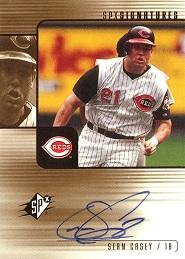 2000 SPx Signatures Sean Casey