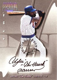 2001 Donruss Signature Notable Nicknames Andre The Hawk Dawson