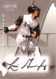 2001 Donruss Signature Notable Nicknames Luis 4 Gonzalez