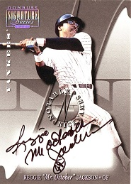 2001 Donruss Signature Notable Nicknames Reggie Mr.October Jackson