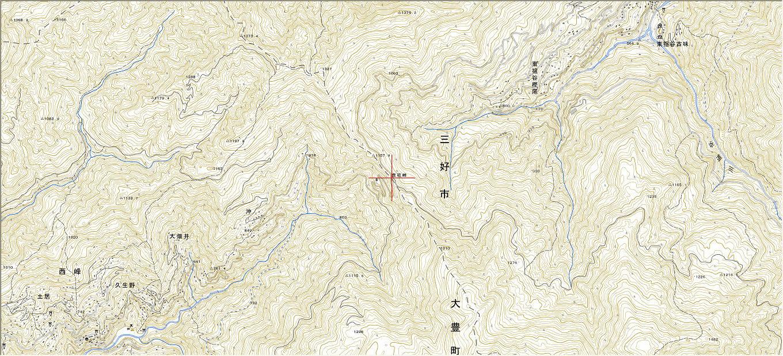 地図京柱峠