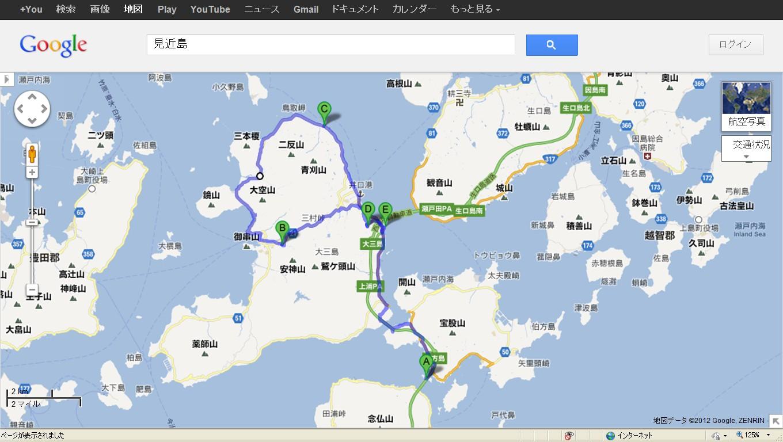 地図大三島巡り