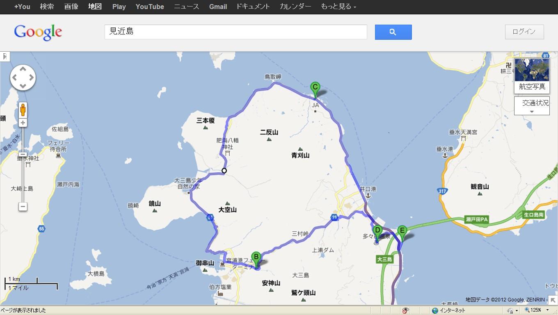 地図大三島