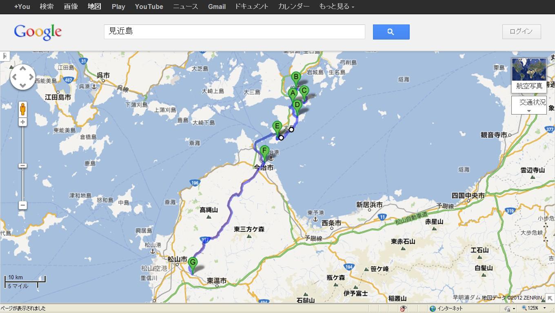 地図見近島松山