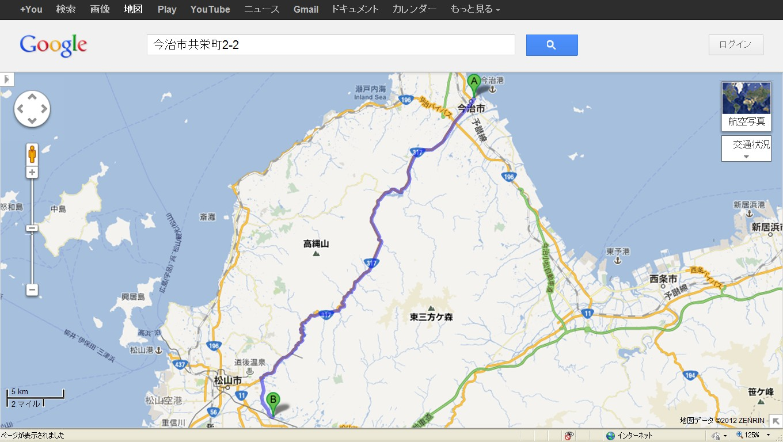 地図今治松山