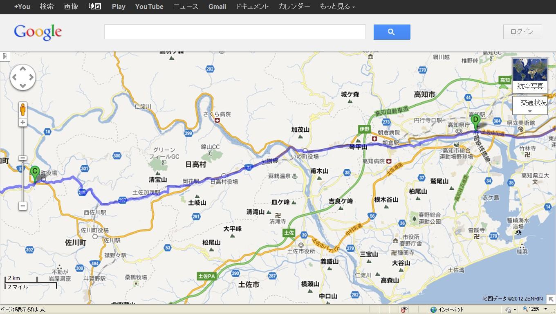 地図越知町高知