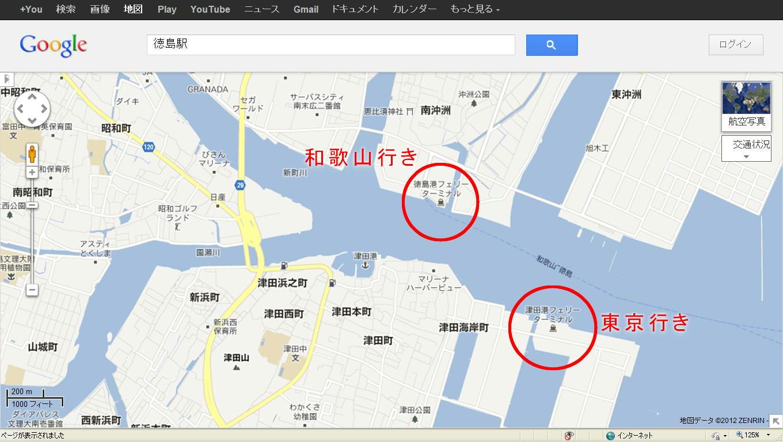 地図徳島港
