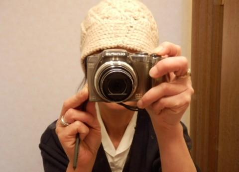 手編みの帽子 (1)