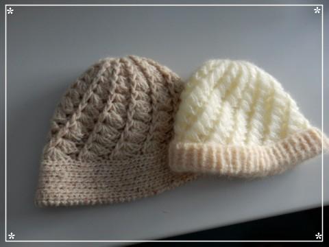 手編みの帽子 (2)