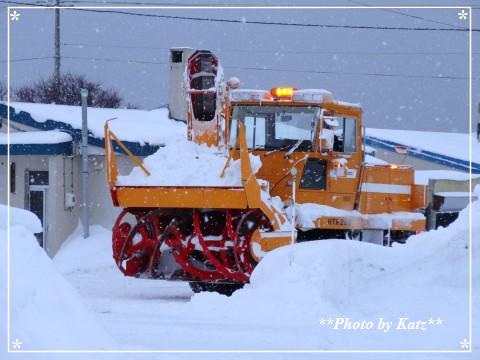 ロータリー除雪 (2)