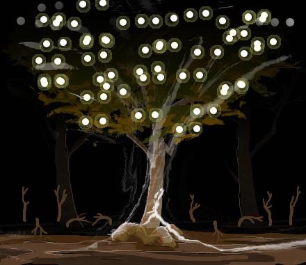 夜の森1e