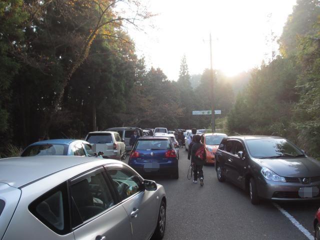 立雲峡の渋滞