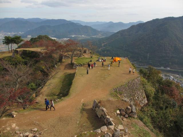 竹田城跡11(天守台から北千畳方面)