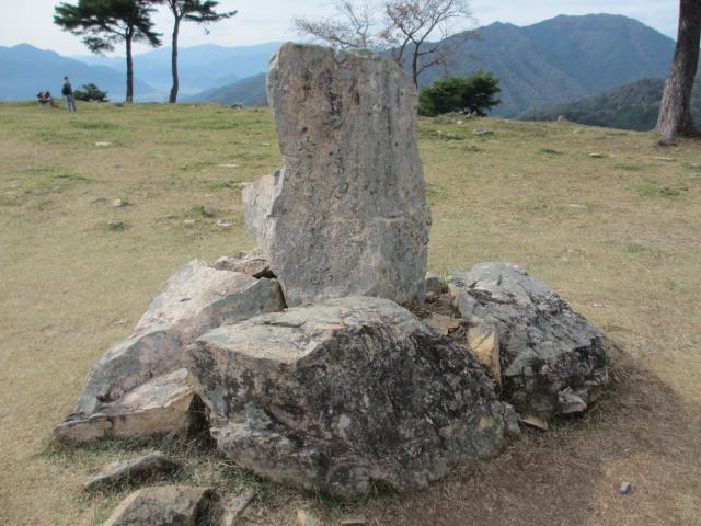 竹田城跡16(南千畳の石碑)