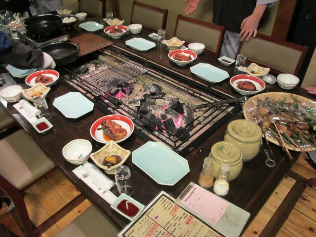 不動温泉 華菱 夕食1