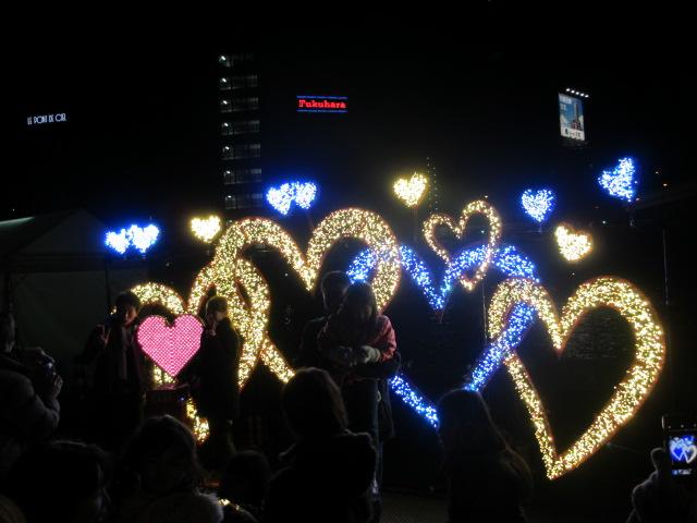OSAKA 光のルネサンス2012 東会場 ハートのオブジェ