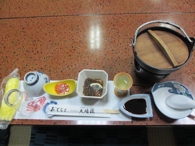 日間賀島 年末年始 食事1