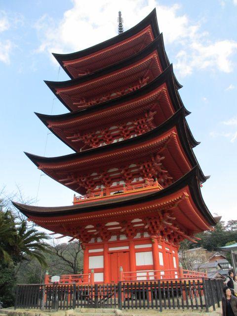 厳島神社 五重塔1