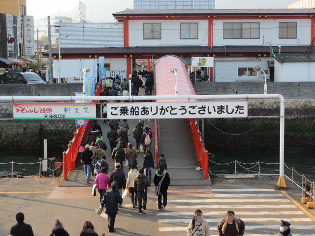 厳島神社 帰りフェリー3