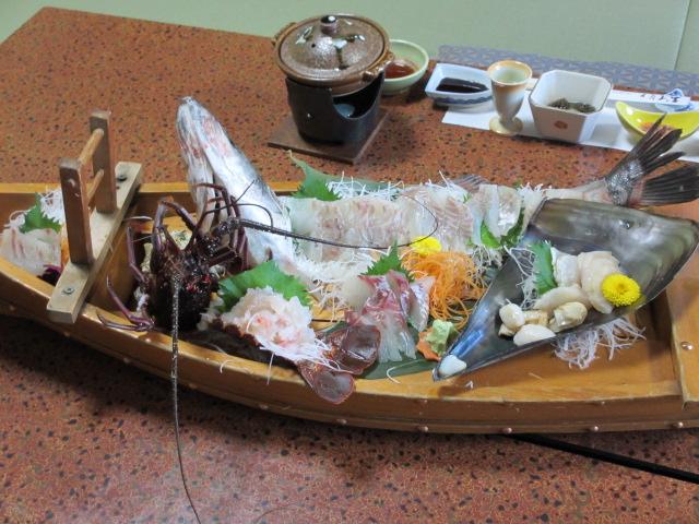日間賀島(大陽荘) 舟盛り