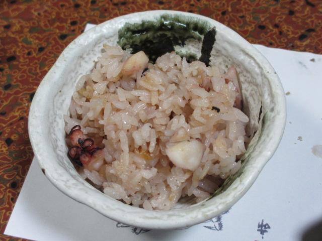 日間賀島(大陽荘) タコ飯