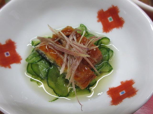 温泉民宿こぶち 夕食(酢の物(うざく))