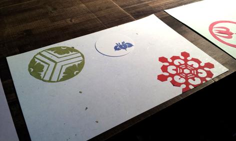 紋切り遊びで作ったランチョンマット