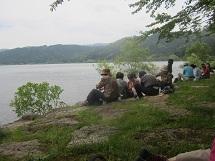 521お昼ごはん湖畔にて ブログ用