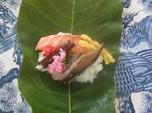 618 朴葉寿司1 ブログ