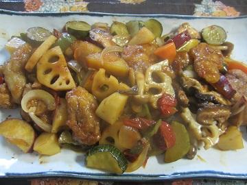 716夏野菜の黒酢煮 ブログ