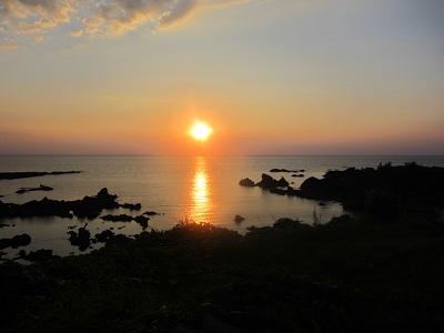 914 夕陽が沈む時 ブログ