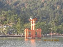 1212 厳島神社の鳥居1 ブログ
