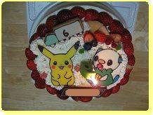 1227 ピカチュウとミジュマル・ケーキ ブログ