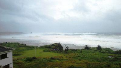 台風15号最接近中1