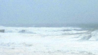 台風15号最接近中3