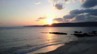 太平洋の夕日1