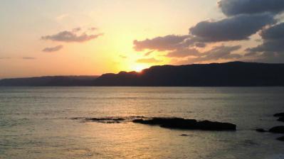 太平洋の夕日2