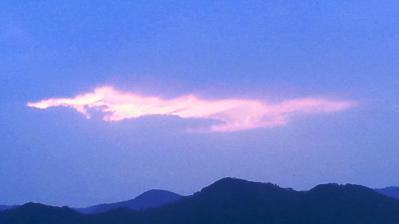 2013.3.5の夕日3