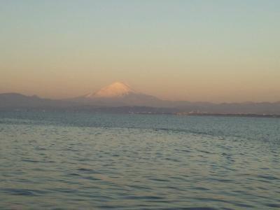 朝焼け富士山。
