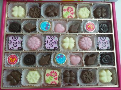 可愛くて美味しいチョコの宝石箱。