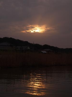 またまたしょんぼり眺める夕陽・・・