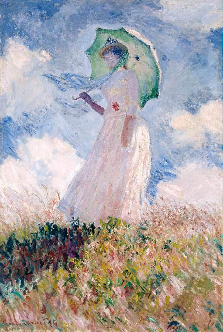 モネ日傘の女1886年オルセー