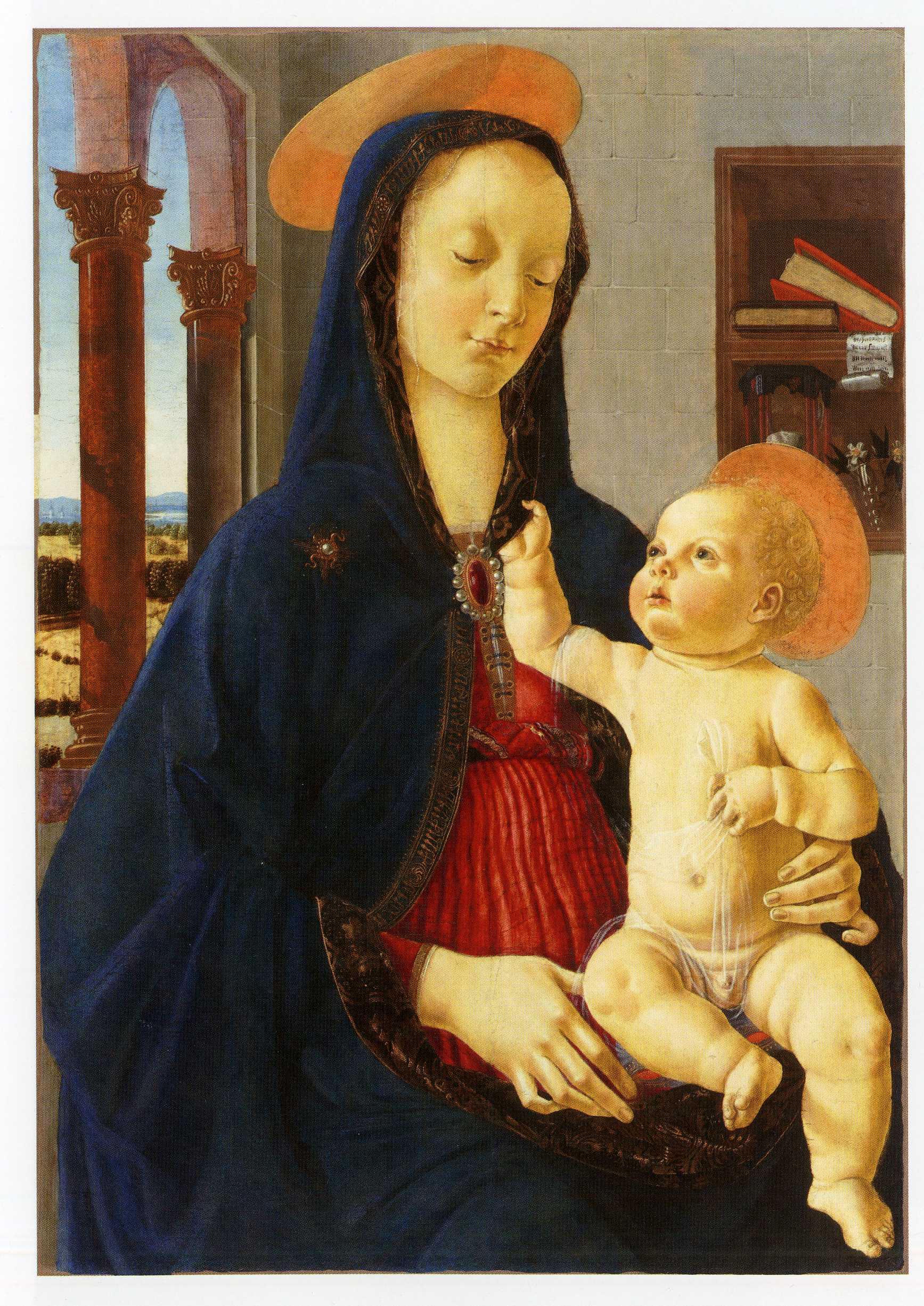 ドメニコ・ギルランダイオ《聖母子》ルーブル