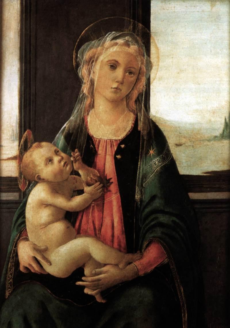 ボッティチェリ《海の聖母》アカデミア美術館