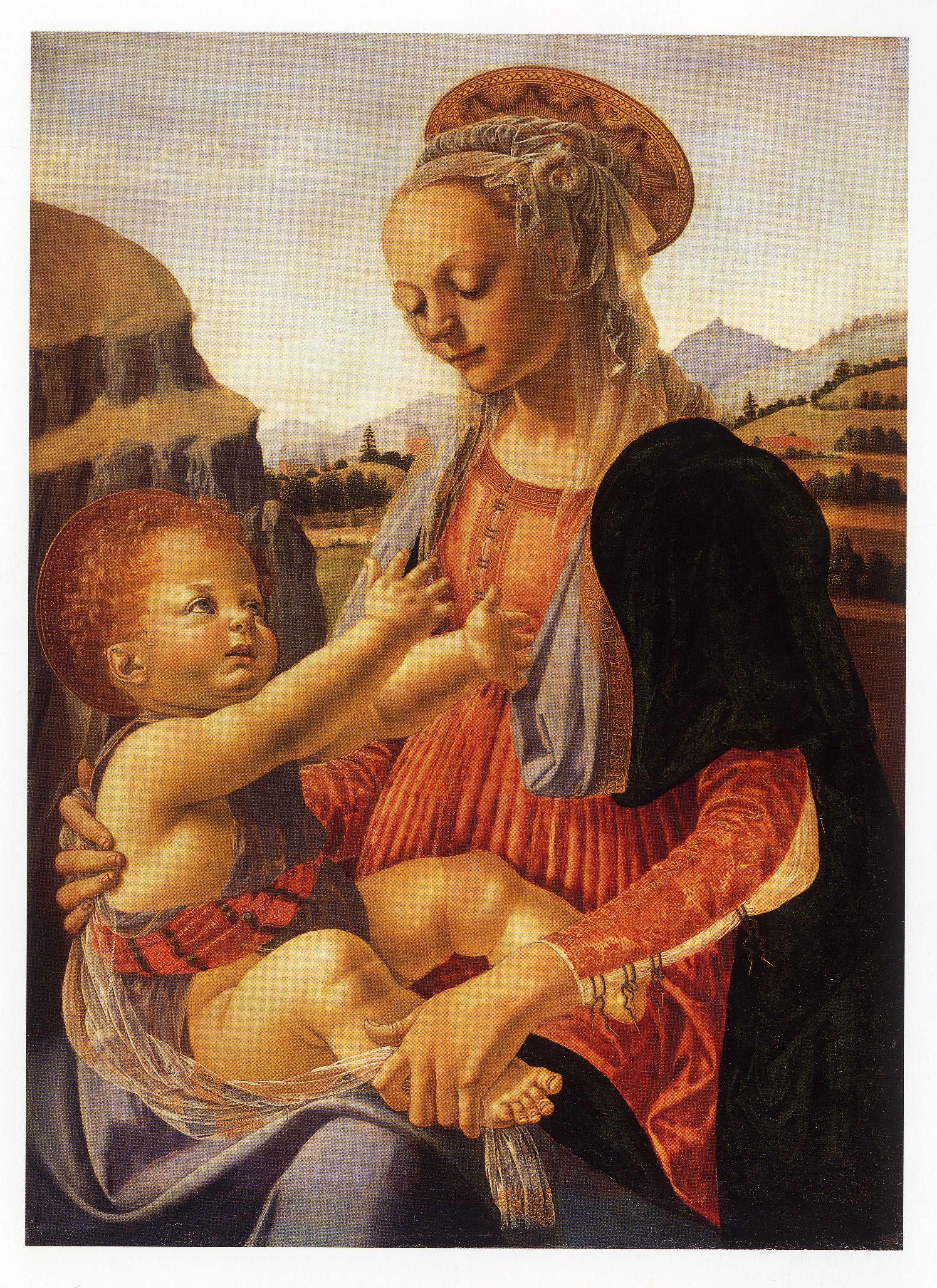 ヴェロッキオ《聖母子》ベルリン絵画館