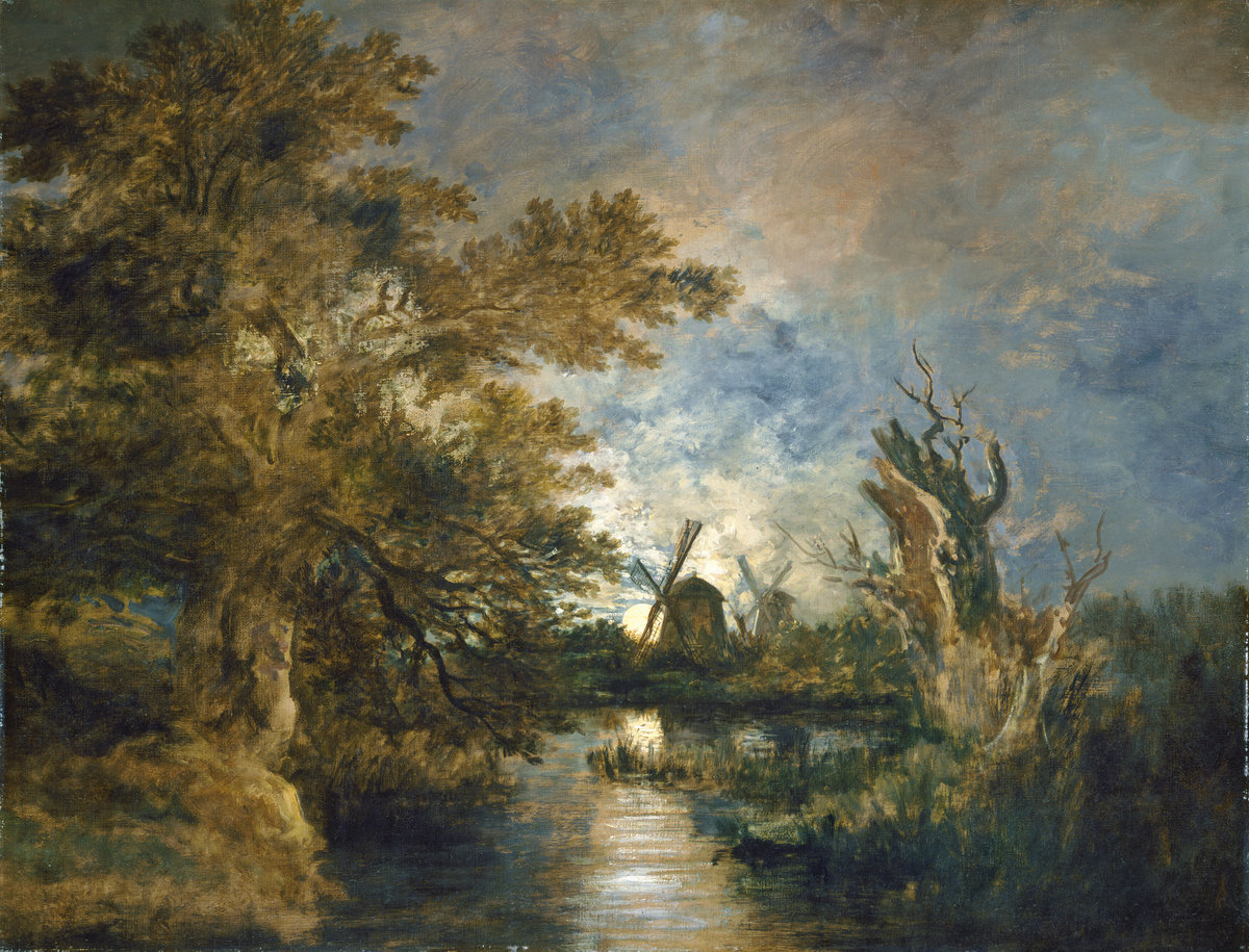 Crome, Moonlight on the Yare (c.1816/1817)