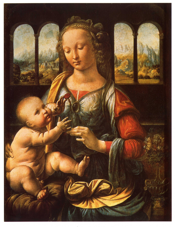 レオナルド《カーネーションの聖母》ミュンヘンアルテピナコテーク
